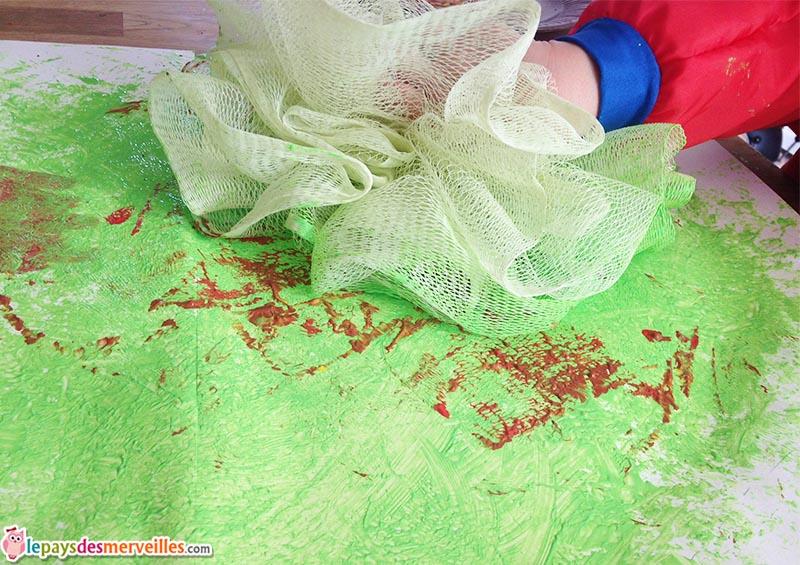 activité peinture objet détourné