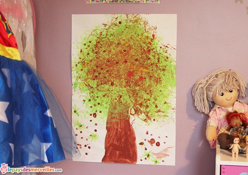 bricolage d 39 automne un marronnier peint avec une fleur de douche le pays des merveilles. Black Bedroom Furniture Sets. Home Design Ideas