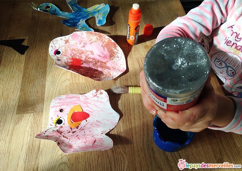 bricolage monstre en peinture