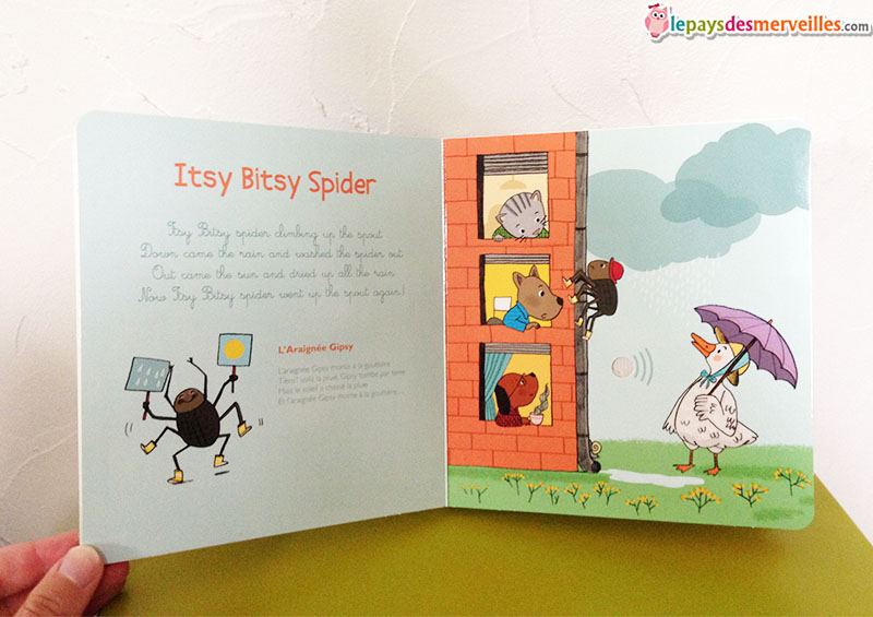 comptine anglais itsy bitsy spider