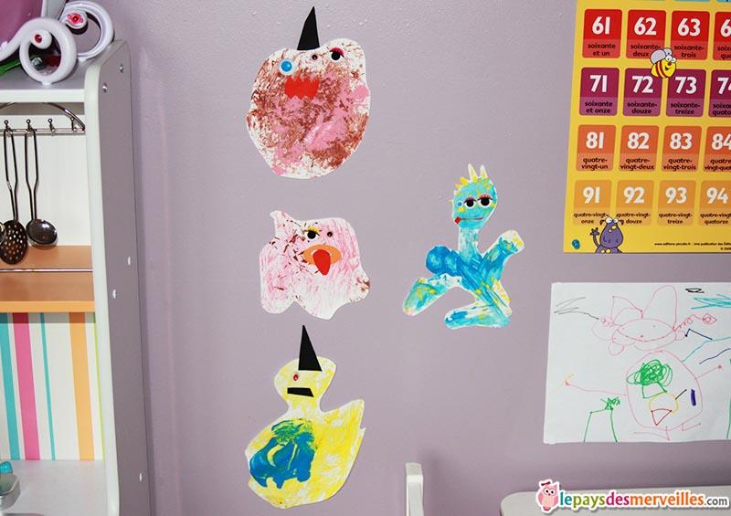 monstre en peinture activité enfant