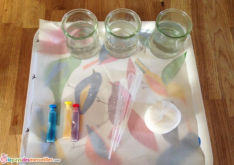 peinture disque a demaquiller colorant pipette