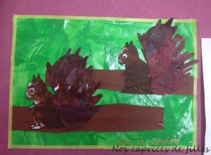 peinture ecureuil
