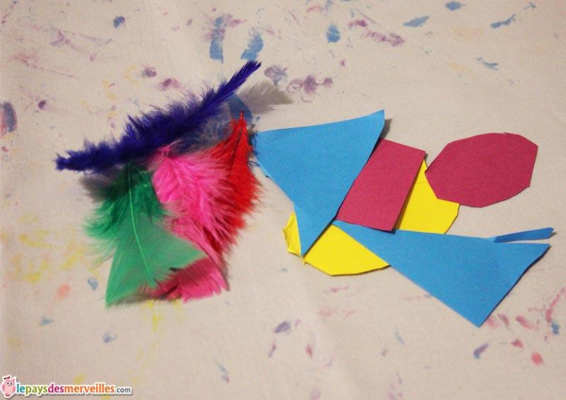 bricolage collage oiseaux