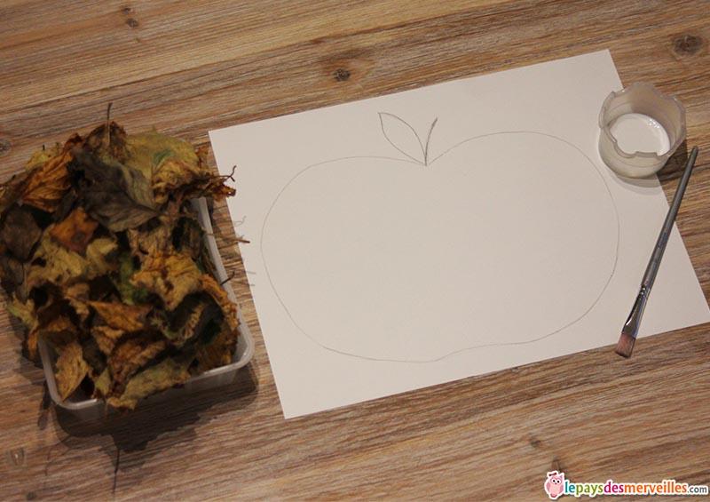 matériel activité d'automne pomme et feuille (1)