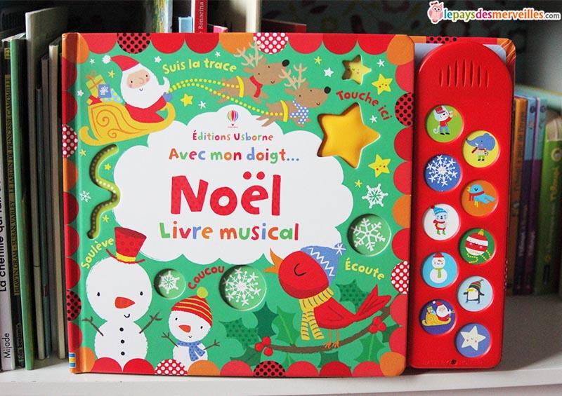 Avec mon doigt. Noël (livre musical) éditions usborne°° le.