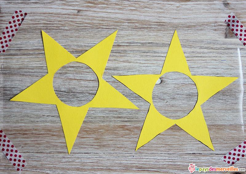 vitrail de noel étoile