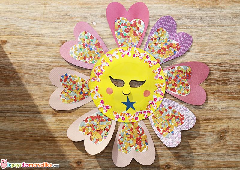 Un masque de fleur pour le carnaval l art est un jeu d enfant 16 le pays des merveilles - Masque papillon carnaval ...