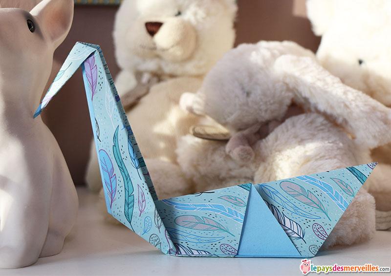 cygne pliage origami
