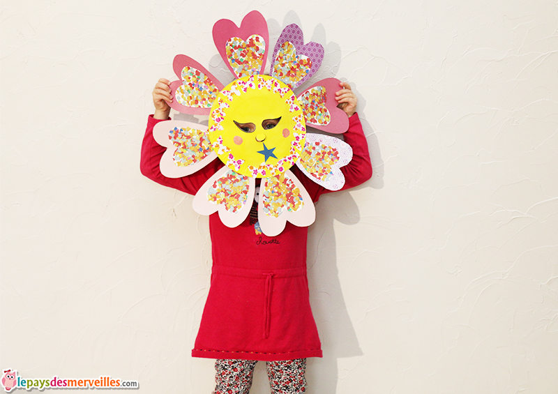 diy masque fleur carnaval
