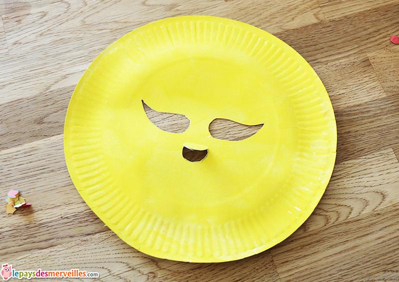 masque carnaval assiette carton