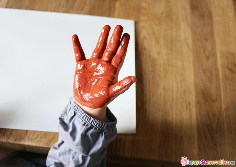 peinture empreinte de main