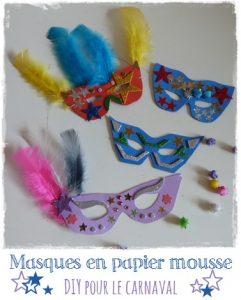 Masque-feuille de mousse carnaval