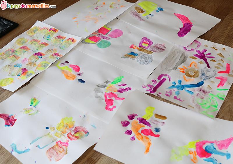 activité manuelle peinture pochoir