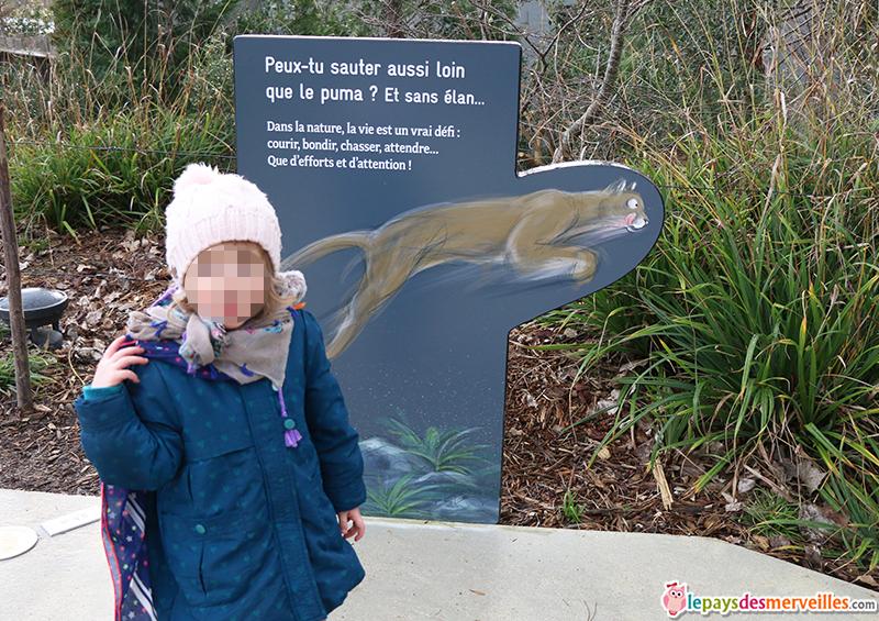 panneau éducatif pour les enfants au zoo de Vincennes