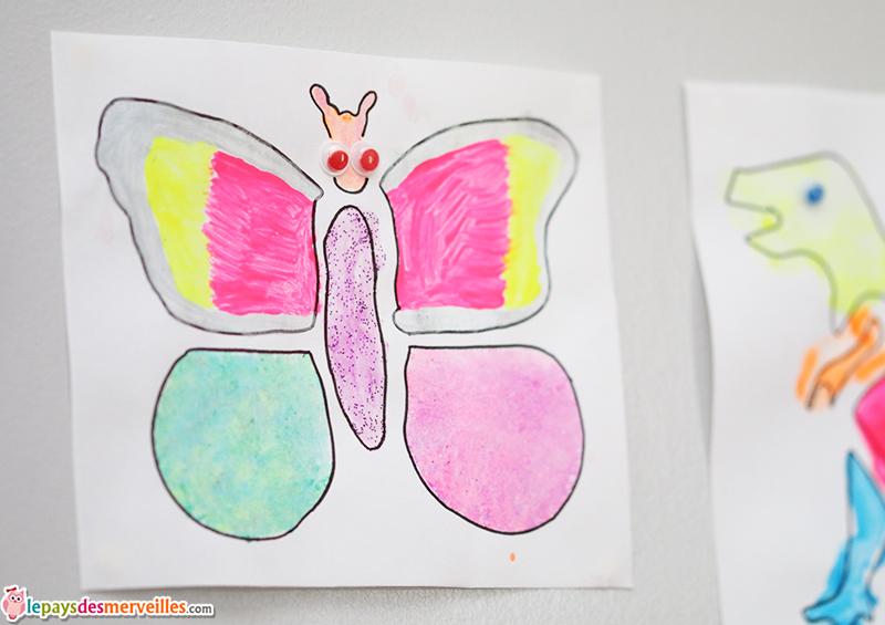 dessin pochoir papillon