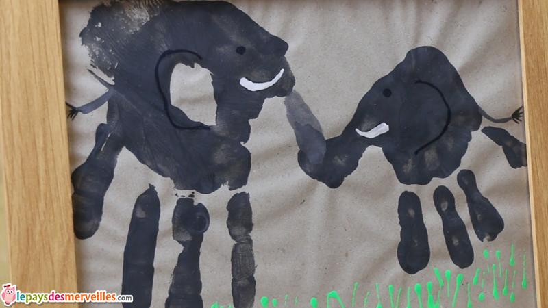empreinte main elephant