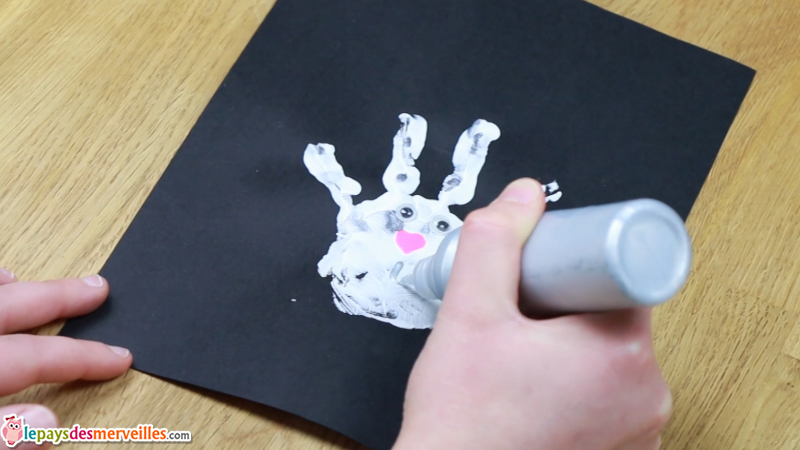 empreinte main enfant lapin