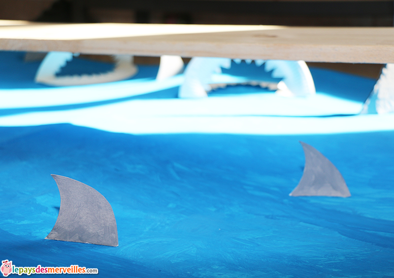 nageoire requin carton
