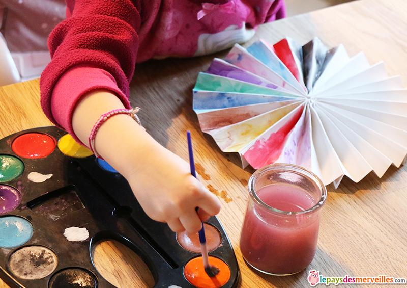 peinture a l'eau activite