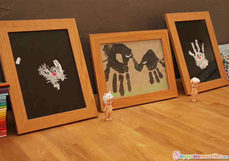 peinture empreinte de main animaux
