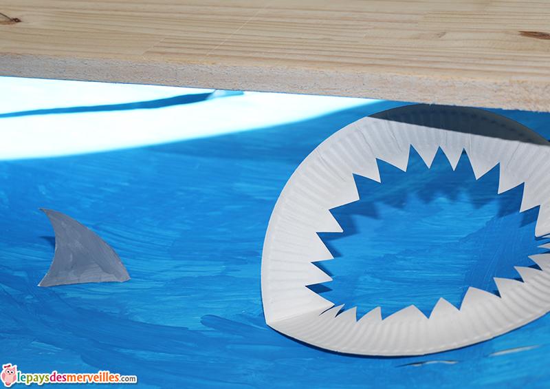requin assiette carton decoupage