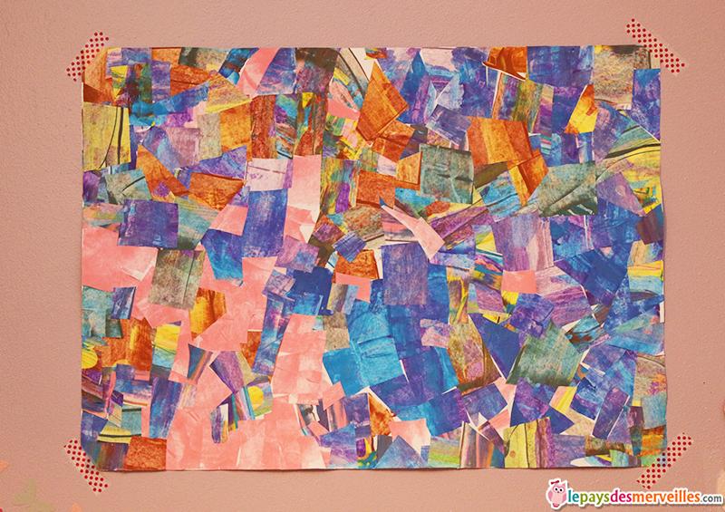 Peindre avec une carte et r aliser un tableau graphique for Peinture mosaique