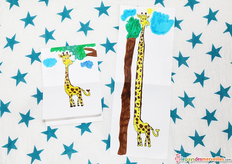 dessin magique grande girafe
