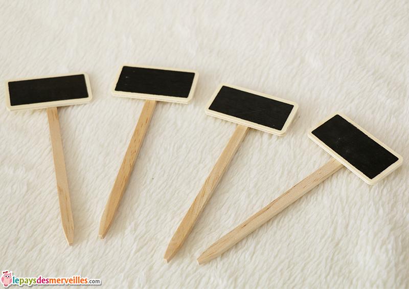 etiquette bois ardoise