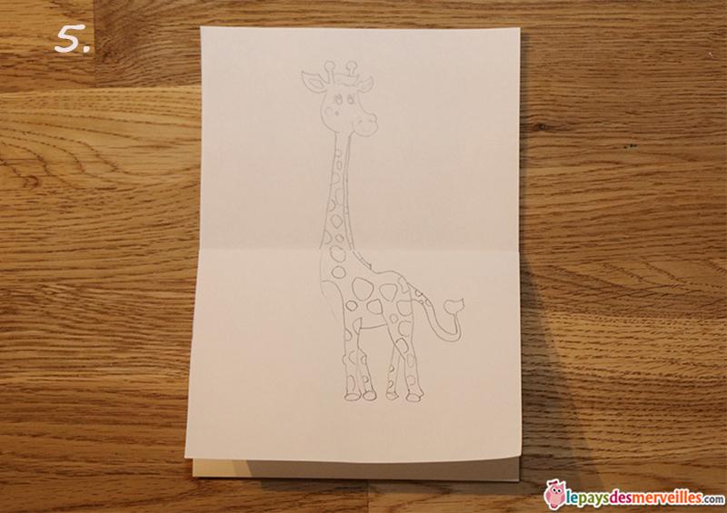 girafe dessin tres long cou