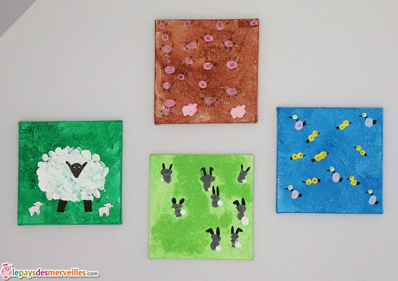 peinture aux doigts animaux