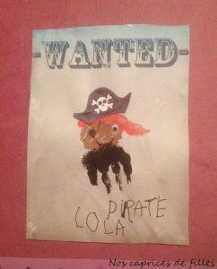 pirate empreinte de main