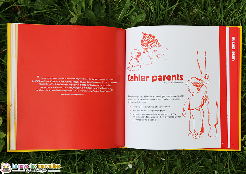 cahier parent explication comptine