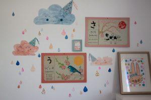 decoration chambre pluie nuages