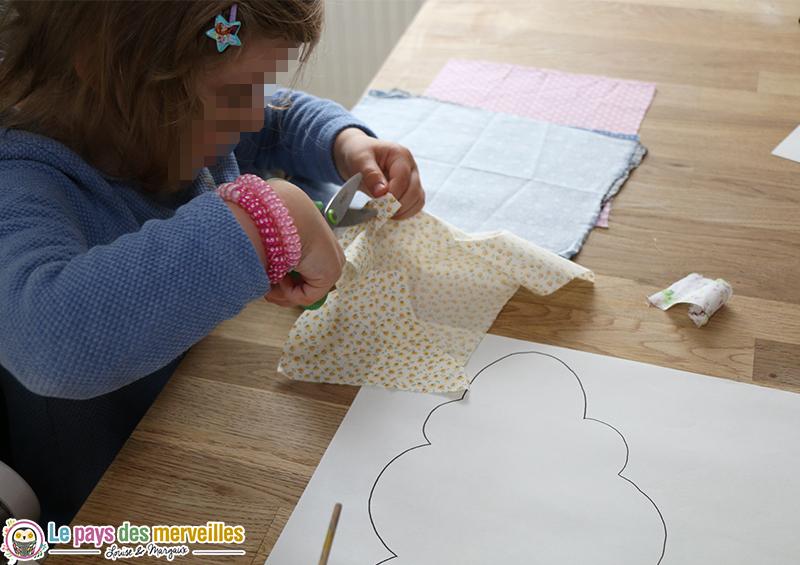 decoupage tissu enfant