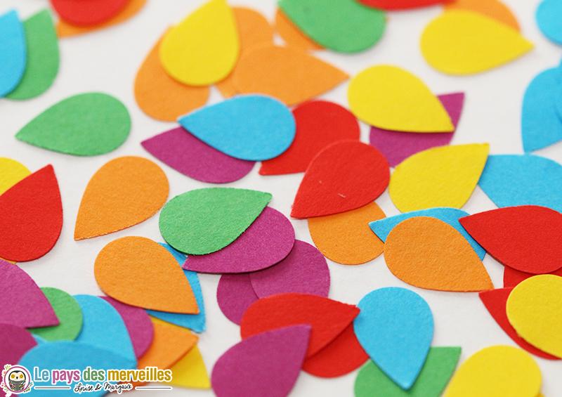 gouttes multicolores