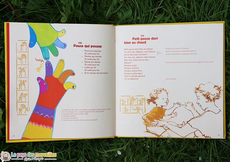 livre comptine et jeux de doigts