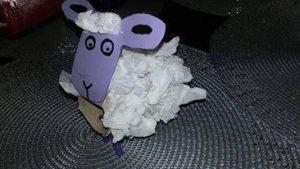 mouton rouleau papier crepon