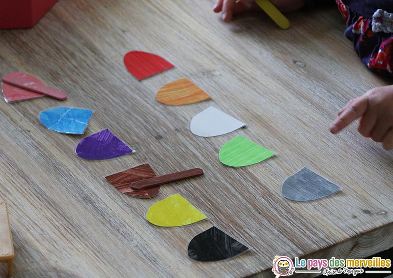 Montessori jeu couleurs