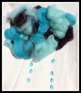 nuages pluvieux laine feutree