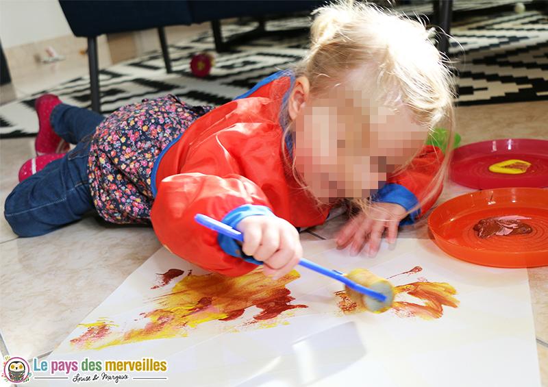 peinture bebe rouleau