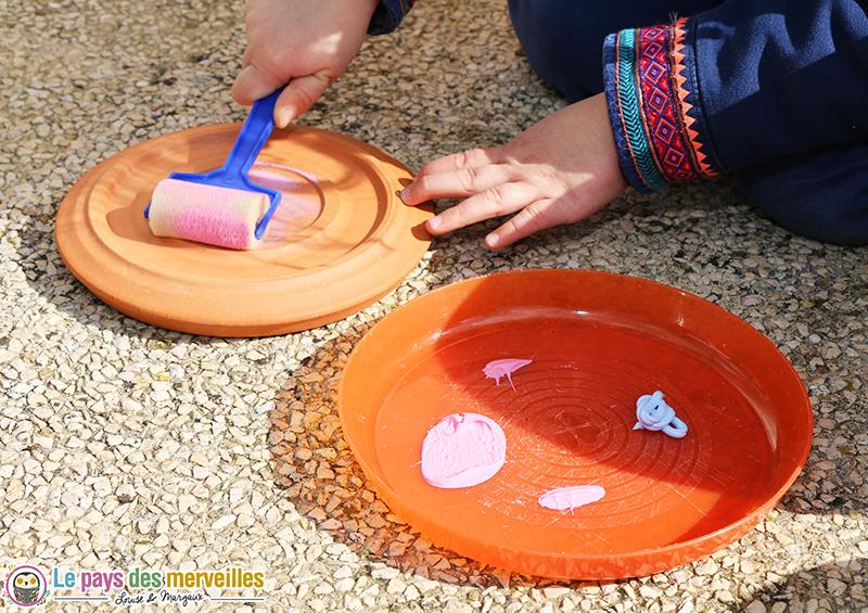 peinture coupelle terre