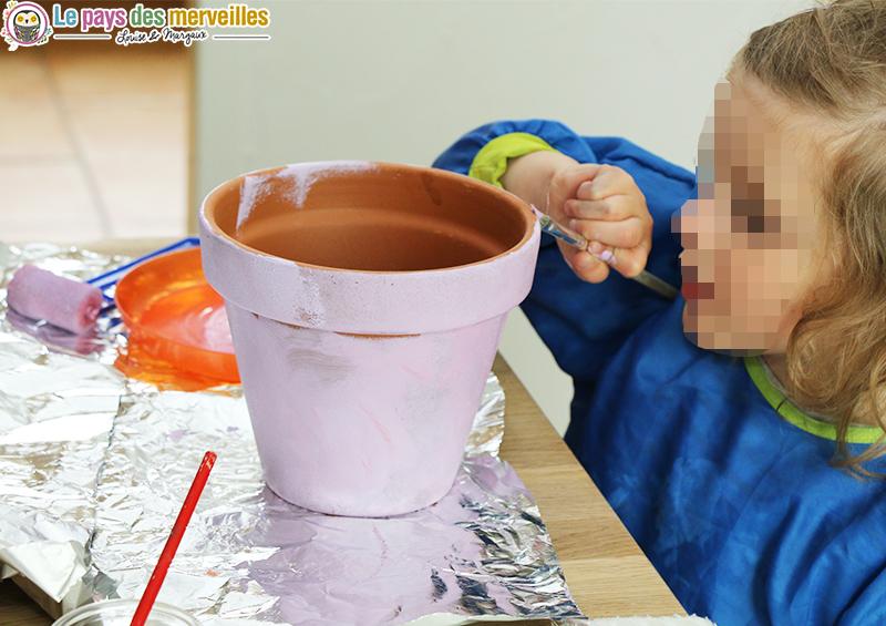 pot de fleurs decore acrylique