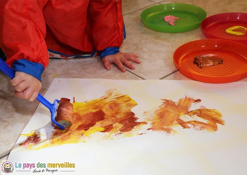 premiere peinture bebe rouleau