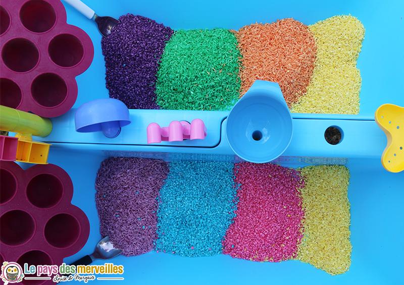 riz multicolore