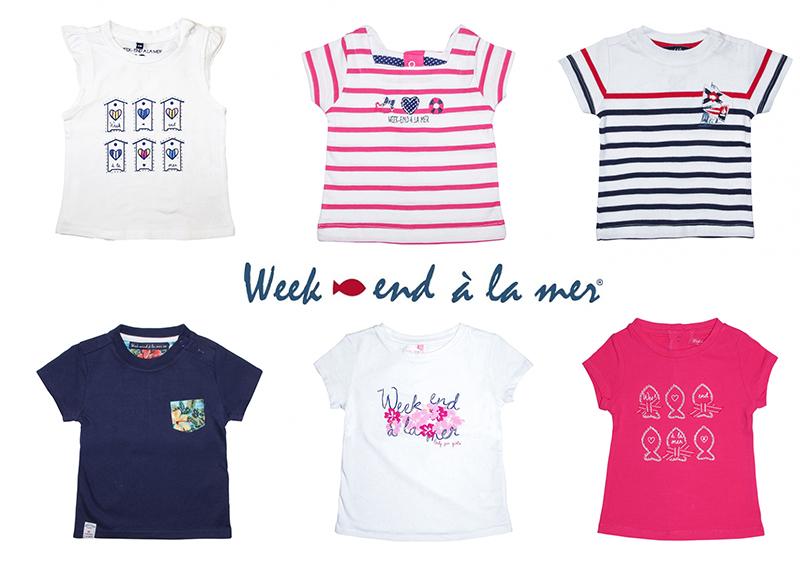 t-shirt weekend a la mer