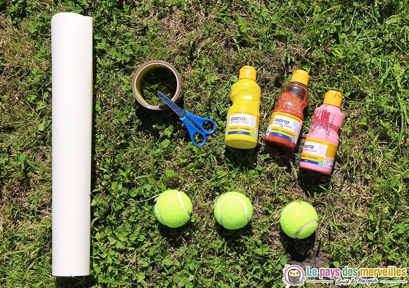 materiel peinture balle tennis