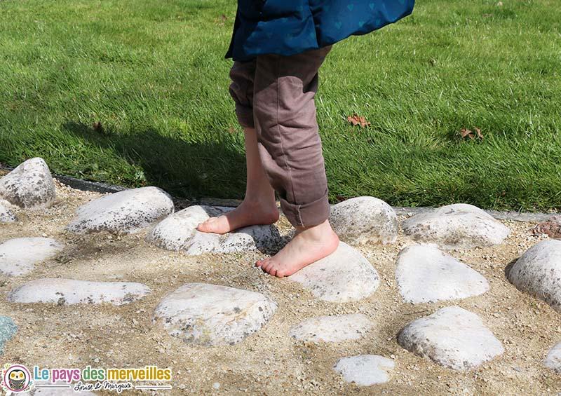 parcours sensoriel pierre