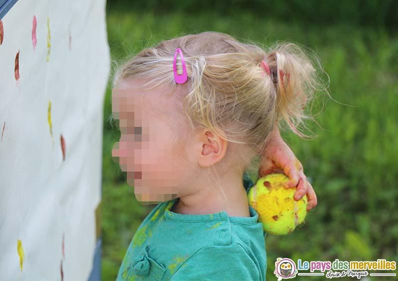 trace peinture balle