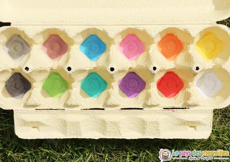 activite tri couleur boite oeuf
